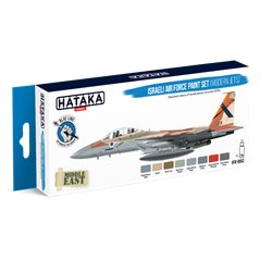 HATAKA HTK-BS62 Israeli Air Force paint set (modern jets) (8 x 17 ml)