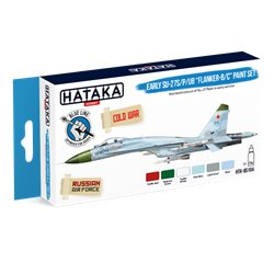 "HATAKA HTK-BS104 Early Su-27S/P/UB ""Flanker-B/C"" paint set (6 x 17 ml)"