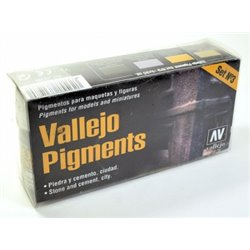 VALLEJO 73.198 Pigment Set no.3 Stone and Cement, city