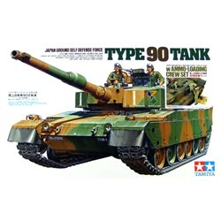 TAMIYA 89564 1/35 Japan Ground Self Defense Force Type 90 Tank w/Ammo-Loading