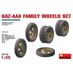 MINIART 35112 1/35 GAZ-AAA Family Wheels Set