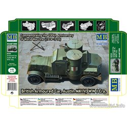 MASTERBOX MB72008 1/72 British Armoured Car, Austin MK IV