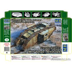 "MASTERBOX MB72006 1/72 MK II ""Female"" British Tank"