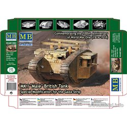 "MASTERBOX MB72003 1/72 Mark I ""Male"" British Tank"