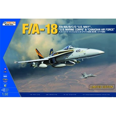 """KINETIC K3204 1/32 F/A-18A/B/C/D """"U.S. Navy"""", """"U.S. Marine Corps"""" & Canadian Air Force"""""""