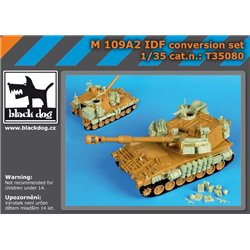 BLACK DOG T35080 1/35 M109 A2 IDF conversion set for Kinetic