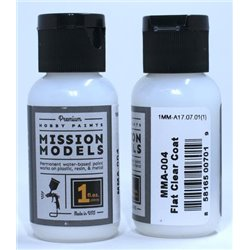 MISSION MODELS MMA-004 FLAT COAT CLEAR 1OZ