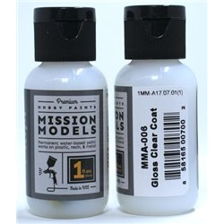 MISSION MODELS MMA-006 GLOSS CLEAR COAT 1OZ