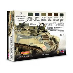 LIFECOLOR CS44 British tanks WWII