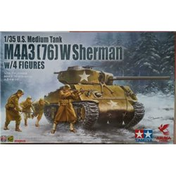 ASUKA 35048 1/35 M4A3 (76) W Sherman w/Figure(Tamiya)