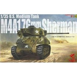 ASUKA 35047 1/35 1/35 U.S. Medium Tank M4A1 76mm Sherman