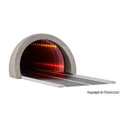 VIESSMANN 5098 1/87 Road tunnel modern, with LED mirroring- and depth effect