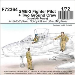CMK F72364 1/72 SMB-2 Fighter Pilot + Two Ground Crew (Israel Air Force)