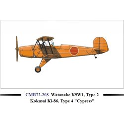 "CMR 208 1/72 Watanabe K9W1, Type 2 Kokusai Ki-86, Type 4 ""Cypress"""