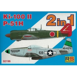 RS MODELS 92196 1/72 Ki-100-II / P-51H 2 in 1