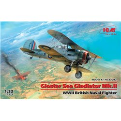 ICM 32042 1/32 Gloster Sea Gladiator Mk.II , WWII British Naval Fighter