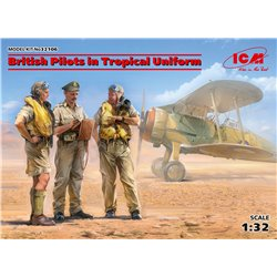 ICM 32106 1/32 British Pilots in Tropical Uniform(1939-1943)(3 figures)