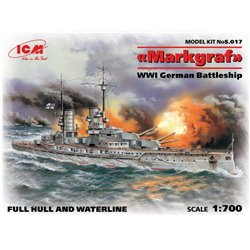 ICM S.017 1/700 Markgraf (full hull & waterline) WWI German Battleship