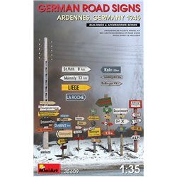MINIART 35609 1/35 German Road Signs (ARDENNES, GERMANY 1945)