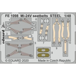 EDUARD FE1098 1/48 Mi-24V seatbelts STEEL