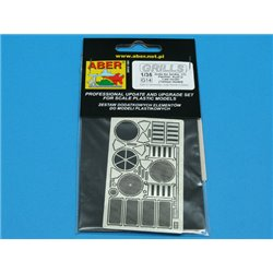 ABER G14 1/48 Grilles for Sd.Kfz.171 Panther, Ausf.G -late model for Tamiya