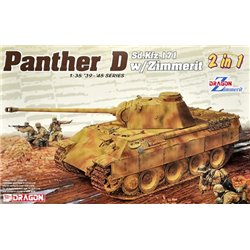 DRAGON 6945 1/35 Pz.Kpfw. V Sd.Kfz. 171 Panther Ausf. D w/Zimmerit 2 in 1