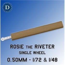 ROSIE THE RIVETER 050 0.50mm Single Wheel (1/72 & 1/48)