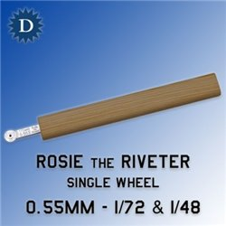 ROSIE THE RIVETER 055 0.55mm Single Wheel (1/72 & 1/48)