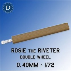 ROSIE THE RIVETER 040D 0.40mm Double Wheel (1/72)