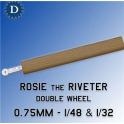 ROSIE THE RIVETER 075D 0.75mm Double Wheel (1/48 & 1/32)