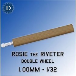 ROSIE THE RIVETER 100D 1.00mm Double Wheel (1/32)