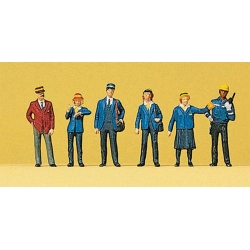Preiser 10213 Figurines HO 1/87 Cheminots Néerlandais Dutch Railways Personnel