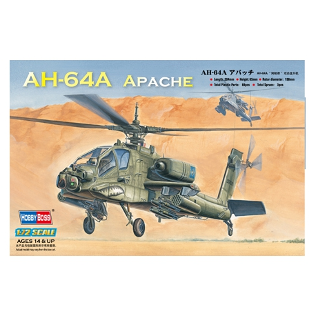 HOBBY BOSS 87218 1/72 AH-64A Apache Attack Helicopter