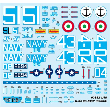 TRUMPETER 02882 1/48 H-34 US NAVY RESCUE