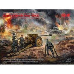 ICM DS3505 1/35 Battle of Kursk (T-34-76(early 1943) Pak 36(r )with Crew(4 figures))
