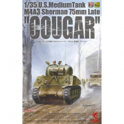 "ASUKA 35046 1/35 U.S. Medium Tank M4A3 Sherman 75mm Late ""Cougar"""