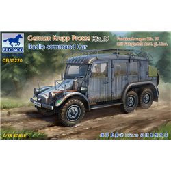 BRONCO CB35220 1/35 German Krupp Protze Kfz.19 Radio command Car