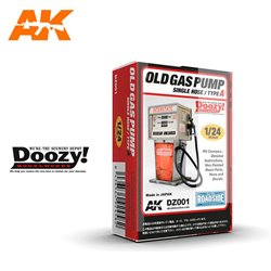 DOOZY DZ001 1/24 OLD GAS PUMP SINGLE HOSE / TYPE A