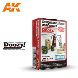 DOOZY DZ014 1/24 EXTINGUISHERS, BOXES AND CANS SET