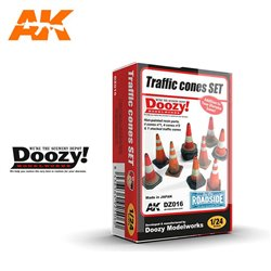 DOOZY DZ016 1/24 TRAFFIC CONES SET