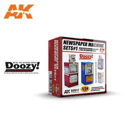 DOOZY DZ017 1/24 NEWSPAPER MACHINE SET1