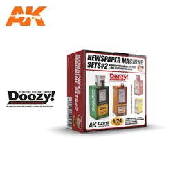DOOZY DZ018 1/24 NEWSPAPER MACHINE SET2