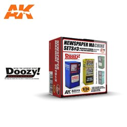 DOOZY DZ019 1/24 NEWSPAPER MACHINE SET3