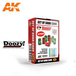DOOZY DZ025 1/24 SET OF SODA CANS