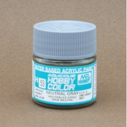 GUNZE Sangyo Mr Hobby Aqueous Color H53 Neutral Gray - Gris Neutre