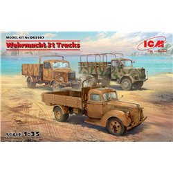 ICM DS3507 1/35 Wehrmacht 3t Trucks (V3000S, KHD S3000, L3000S)