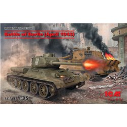 ICM DS3506 1/35 Battle of Berlin (April 1945) (T-34-85, King Tiger)