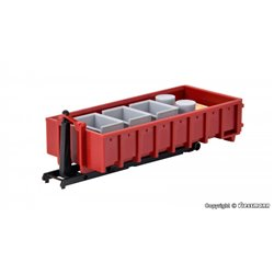 KIBRI 15709 1/87 Hook roll-off construction with roll skip and cargo