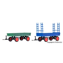 KIBRI 15702 1/87 FENDT trailer with rubber wheels, 2 pieces