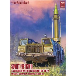 MODELCOLLECT UA72138 1/72 Soviet(9P117M1) Laungher R17 rocket of 9K72 missile complexELEBRUS/SCUD B
